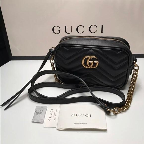 Gucci Bags Marmont Mini Camera Bag Black Poshmark